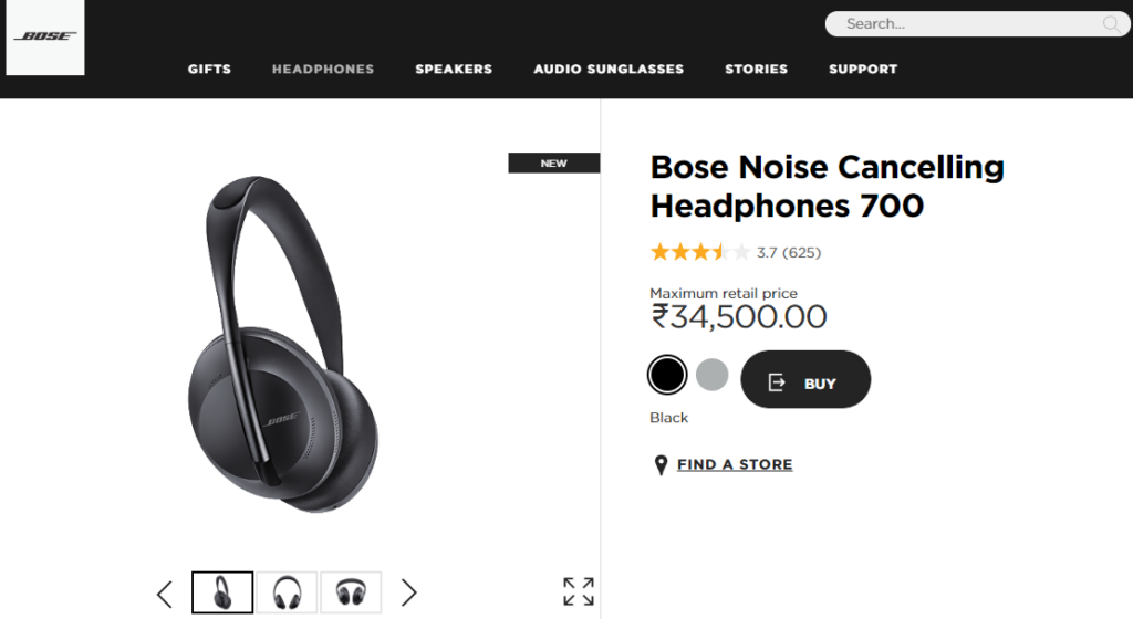 Bose - ecommerce product management
