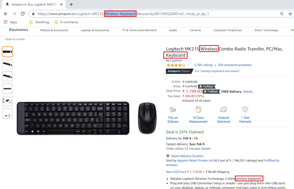 Amazon - importance of a product page
