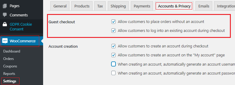 woocommerce guest checkout - cart abandonment