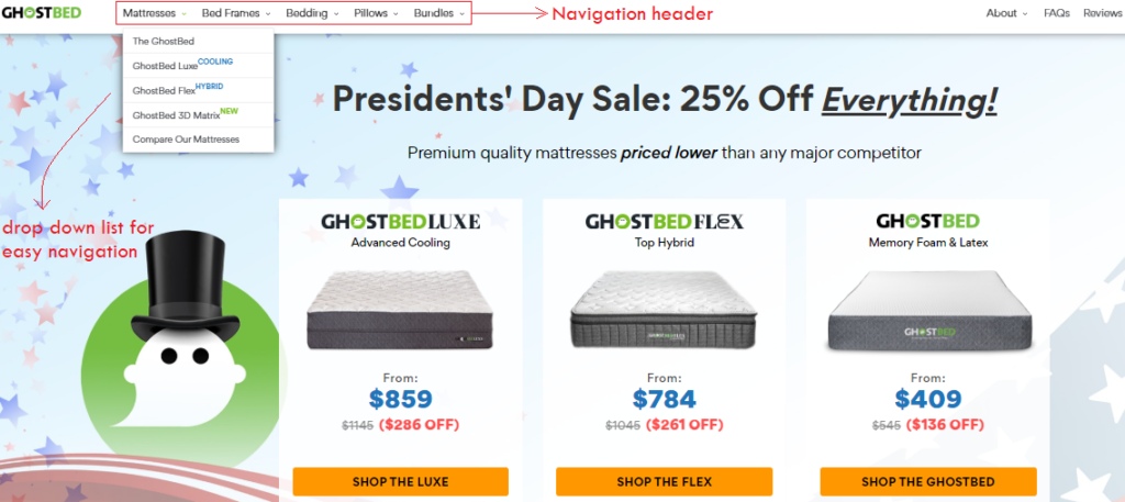 site navigation - WooCommerce Store Optimization