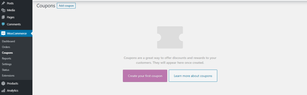 coupon - start a woocommerce website
