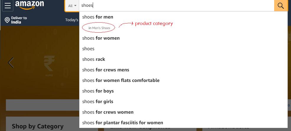 Amazon suggestions - E-commerce Store Optimization