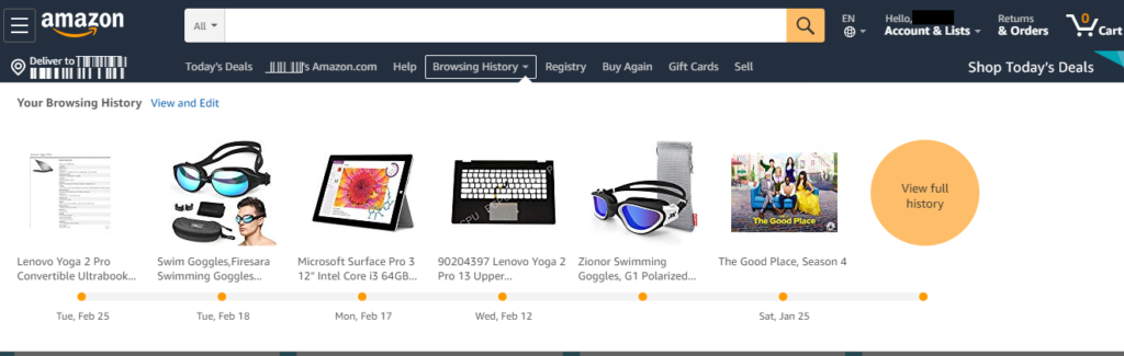 Amazon homepage - E-commerce Store Optimization