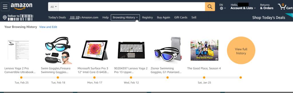Amazon homepage - E-commerce Store Optimization