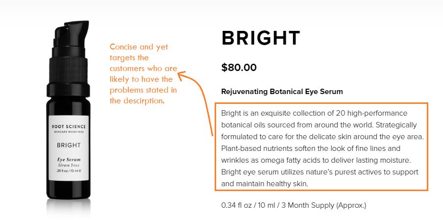 product description - product page optimization
