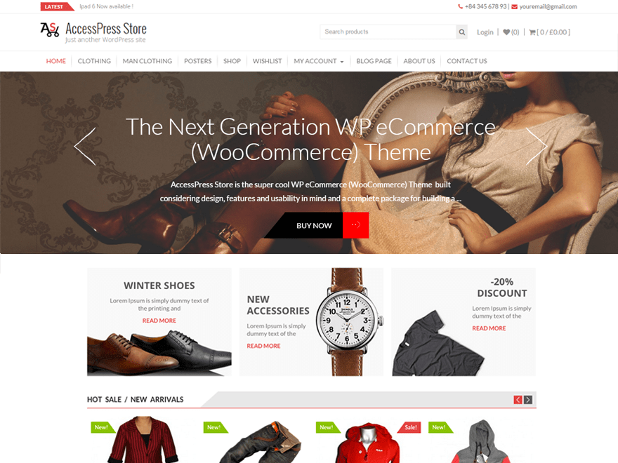 WooCommerce Theme - AccessPress Store