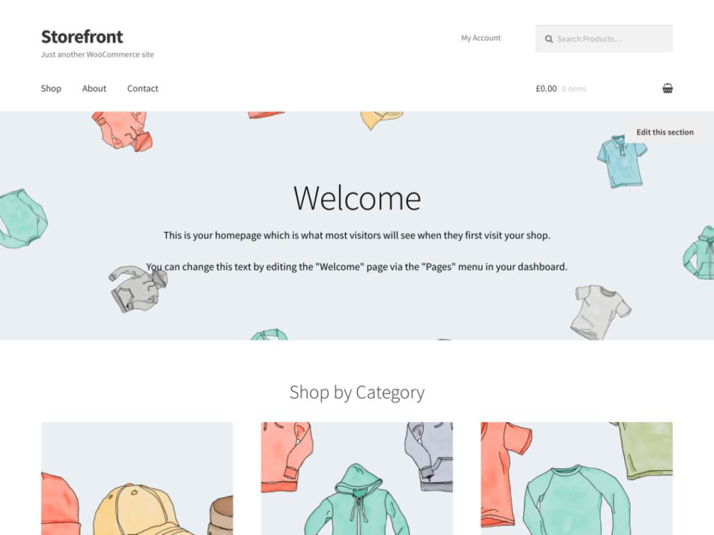 WooCommerce Theme - StoreFront