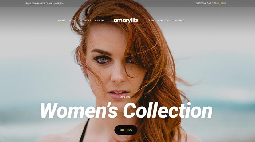 WooCommerce Theme - Amaryllis